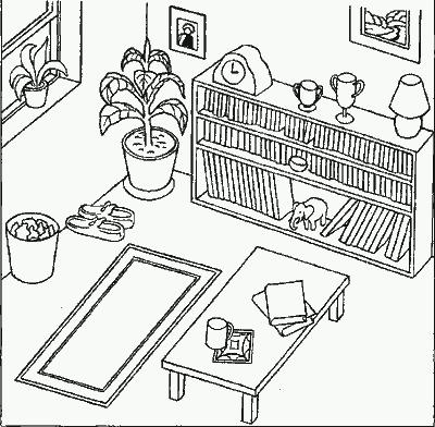 Игра расположение предметов